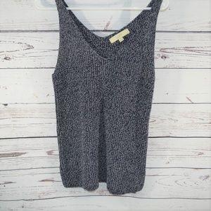 Loft black and white knit Size ZS Tank Sweater Top